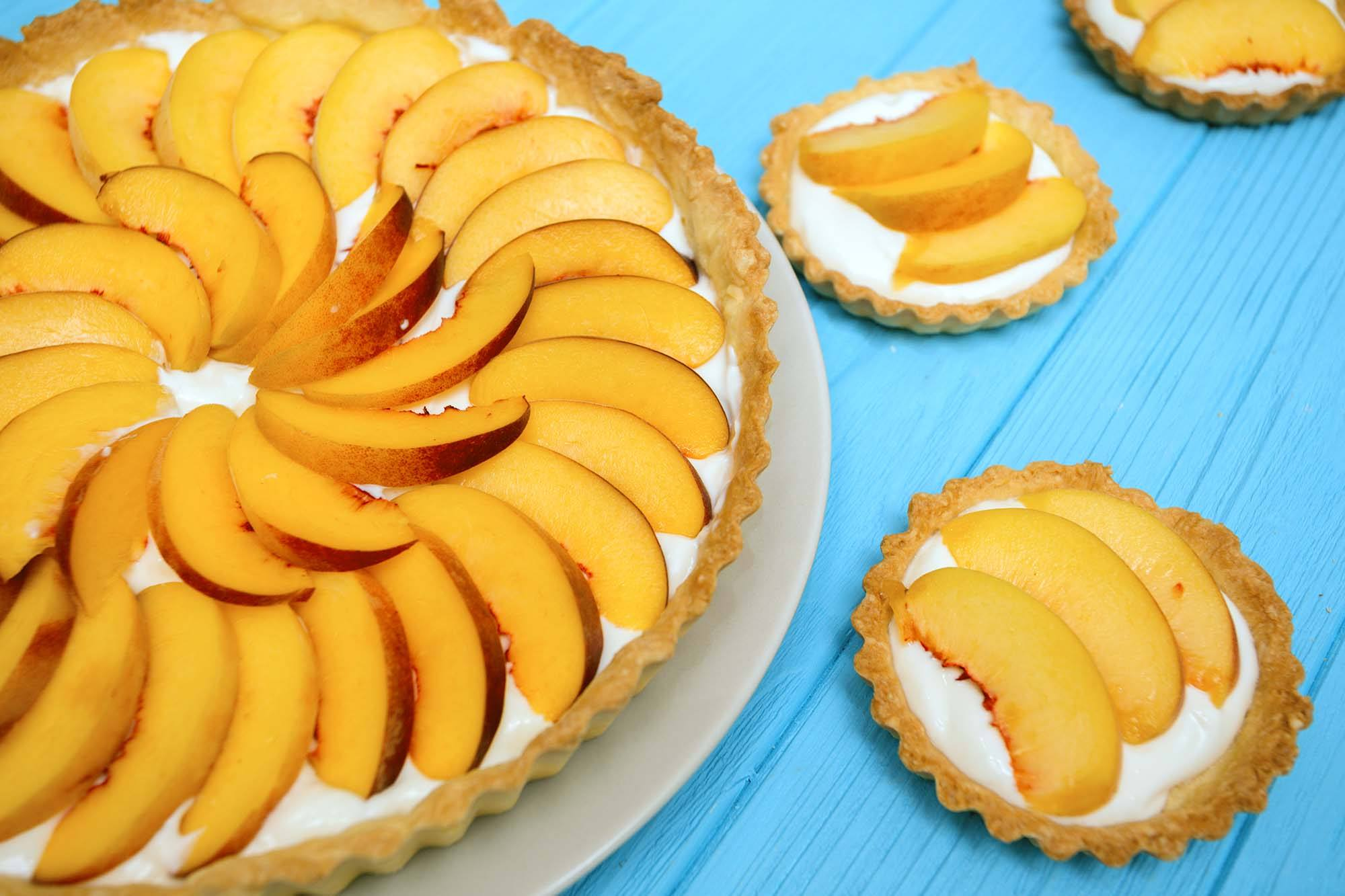 Lowcountry Peaches and Cream Pie